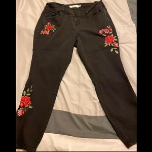 Torrid embroidered jeans